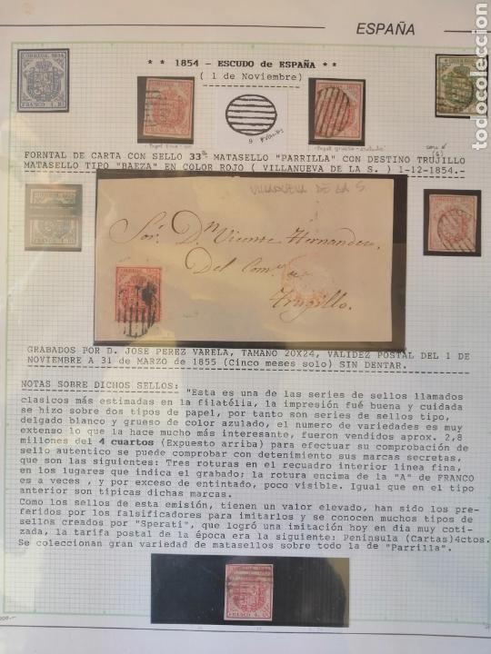 Sellos: Colección España 1850/1899 clásicos siglo XIX 30 hojas años 90 lote tal fotos - Foto 5 - 164513216