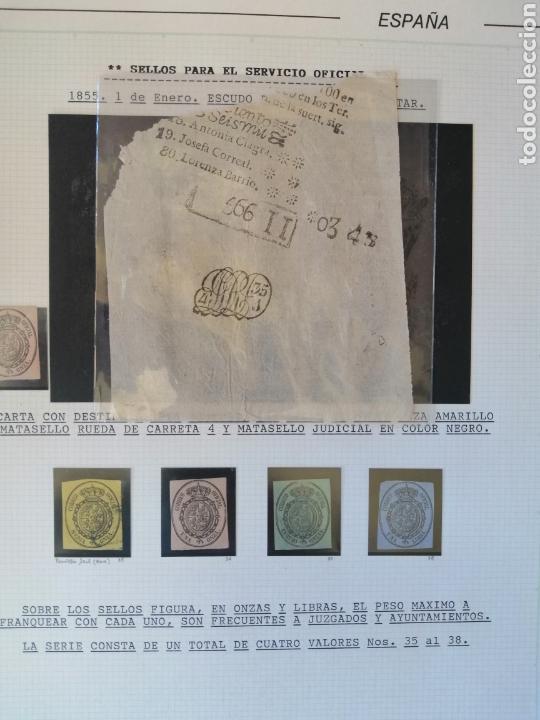 Sellos: Colección España 1850/1899 clásicos siglo XIX 30 hojas años 90 lote tal fotos - Foto 6 - 164513216