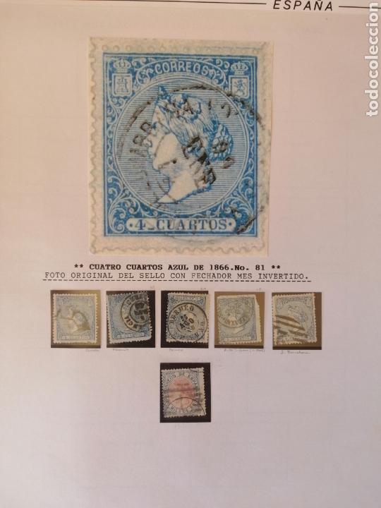 Sellos: Colección España 1850/1899 clásicos siglo XIX 30 hojas años 90 lote tal fotos - Foto 31 - 164513216