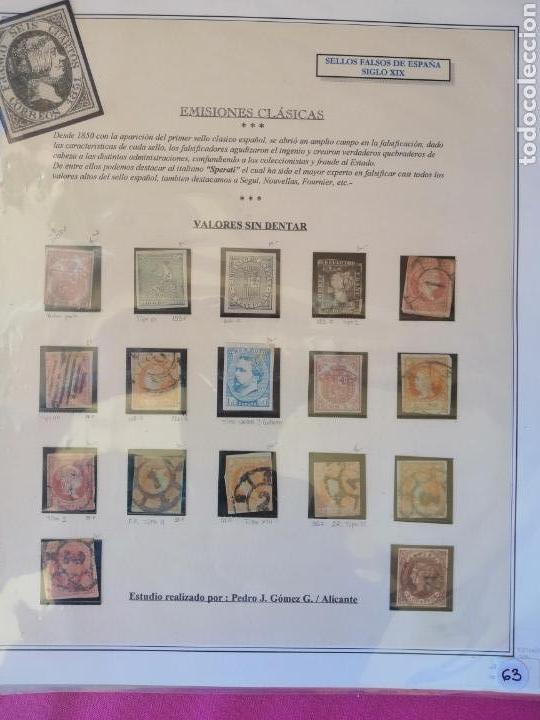 Sellos: Colección España 1850/1899 clásicos siglo XIX 30 hojas años 90 lote tal fotos - Foto 2 - 164513216