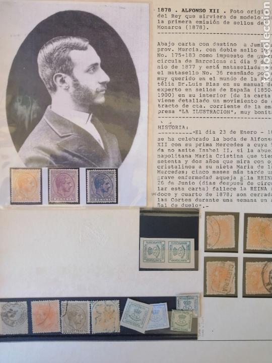 Sellos: Colección España 1850/1899 clásicos siglo XIX 30 hojas años 90 lote tal fotos - Foto 16 - 164513216