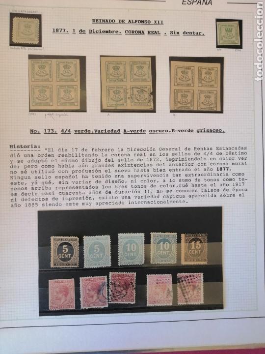 Sellos: Colección España 1850/1899 clásicos siglo XIX 30 hojas años 90 lote tal fotos - Foto 17 - 164513216