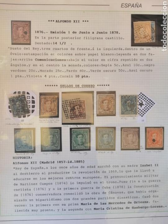 Sellos: Colección España 1850/1899 clásicos siglo XIX 30 hojas años 90 lote tal fotos - Foto 18 - 164513216