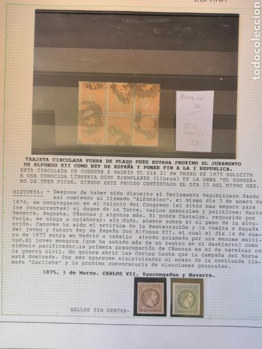 Sellos: Colección España 1850/1899 clásicos siglo XIX 30 hojas años 90 lote tal fotos - Foto 22 - 164513216