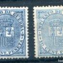 Sellos: EDIFIL 142. 10 CENT IMPUESTO DE GUERRA. VARIEDAD COLOR. 2 SELLOS. NUEVOS SIN FIJASELLOS.. Lote 164738230