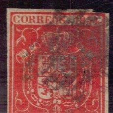 Sellos: 1854 ESPAÑA 2 RS ESCUDO ROJO BERMELLON INTENSO USADO PEQUEÑO PUNTO DE ALFILER. Lote 165060974