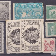 Sellos: DD17- PARAFISCALES. LOTE 12 SELLOS. Lote 165560990