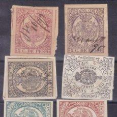 Timbres: DD19-FISCALES CLÁSICOS MÓVILES CUBA (5)Y PÓLIZA 1865. Lote 165561126