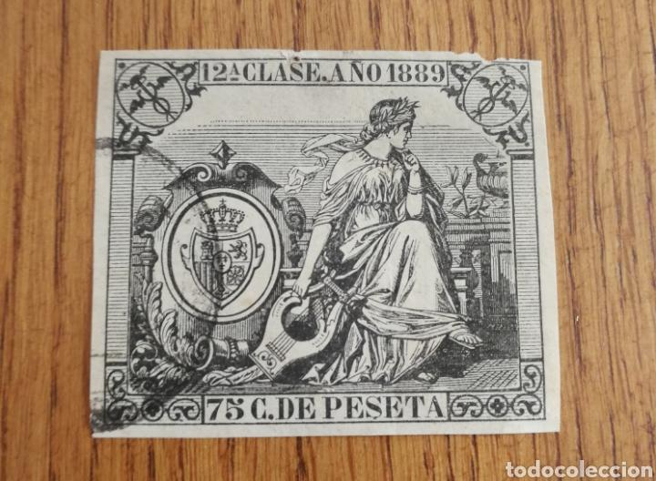 FISCALES 1889 (Sellos - España - Otros Clásicos de 1.850 a 1.885 - Usados)