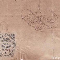 Timbres: F-EX16323 ESPAÑA SPAIN 1895 REVENUE NOTARIOS ESCRIBANOS.BURGOS 3 PTAS. SERIE X + CUBA POSTAGE REVENU. Lote 171392155