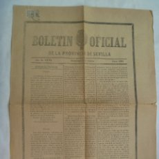 Sellos: BOLETIN OFICIAL DE LA PROVICNCIA DE SEVILLA, ENVIADO CON SELLO DE 1/4 DE PESETA. 1879. Lote 173054273