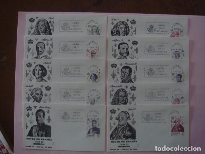 ESPAÑA 1978 SOBRES 1º DE CIRCULACIÓN REYES DE ESPAÑA CASA BORBON (Sellos - España - Otros Clásicos de 1.850 a 1.885 - Cartas)