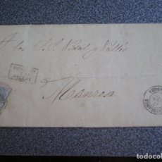 Sellos: CARTA COMPELETA AÑO 1871 EDIFIL 107 FECHADOR MONTBLANCH A MANRESA MARCADA DESPUÉS DE LA SALIDA. Lote 174460693