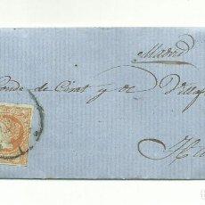 Sellos: CARTA COMPLETA DE 1860 DE VALENCIA A HARO LA RÍOJA EDIFIL 52. Lote 175809187