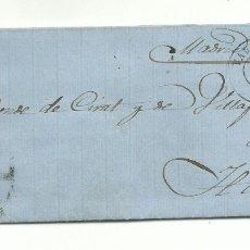 Sellos: CARTA COMPLETA DE 1860 DE VALENCIA A HARO LA RÍOJA EDIFIL 52. Lote 175809848