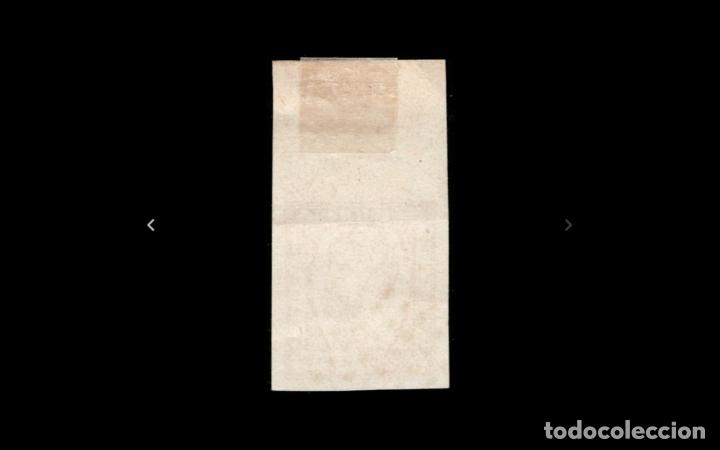 Sellos: ESPAÑA - 1874 - CARLOS VII - EDIFIL 157 - BORDE DE HOJA - ROMBO DE PUNTOS - VALOR CATALOGO +150€ - Foto 2 - 178597965