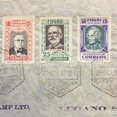 Sellos: CARTA REPÚBLICA ESPAÑOLA AÑO 1937. Lote 178642273