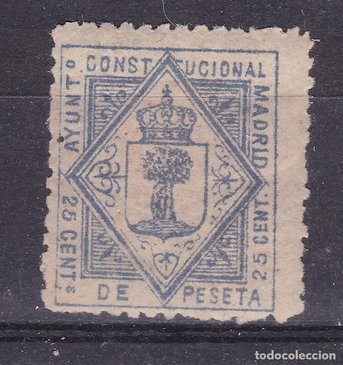 CC24- FISCALES LOCALES AYUNTAMIENTO MADRID 25 CTS . NUEVO* (Sellos - España - Otros Clásicos de 1.850 a 1.885 - Nuevos)