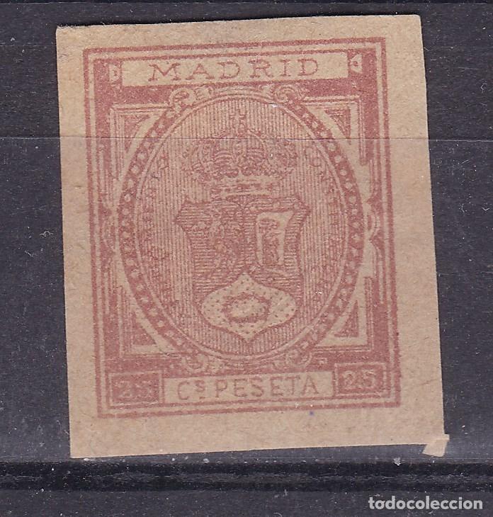 CC24- FISCALES LOCALES AYUNTAMIENTO MADRID 25 CTS .SIN GOMA (Sellos - España - Otros Clásicos de 1.850 a 1.885 - Nuevos)