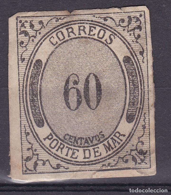 RR5- SELLO CORREOS- PORTE DE MAR 60 (Sellos - España - Otros Clásicos de 1.850 a 1.885 - Nuevos)