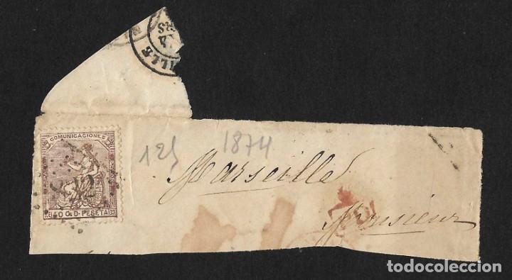 Sellos: LOTE HISTORIA POSTAL ESPAÑA A FRANCIA ISABEL II, AMADEO 1872, ALEGORÍA REPÚBLICA Y ALFONSO XII - Foto 3 - 182715043