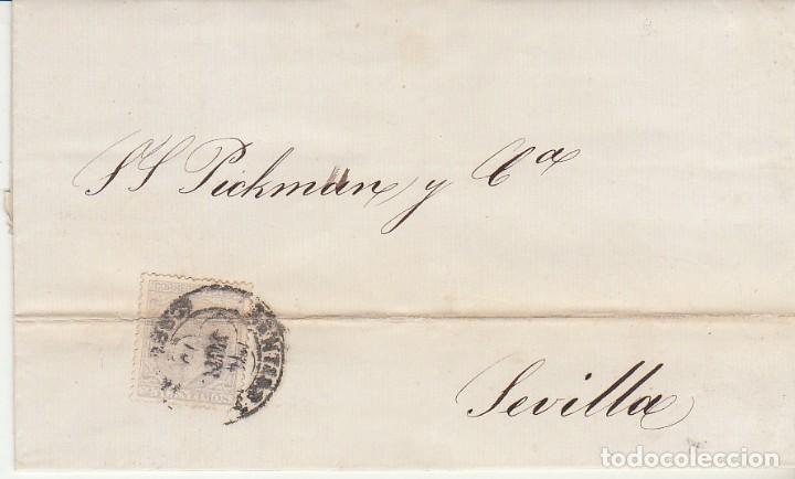 SELLO 204. SANTIAGO A SEVILLA. 1879 (Sellos - España - Otros Clásicos de 1.850 a 1.885 - Cartas)