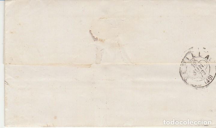 Sellos: Sello 204. SANTIAGO a SEVILLA. 1879 - Foto 2 - 183659465