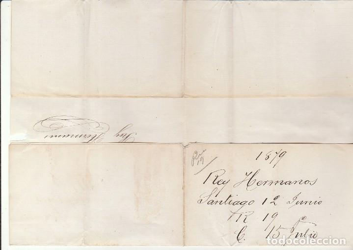 Sellos: Sello 204. SANTIAGO a SEVILLA. 1879 - Foto 3 - 183659465
