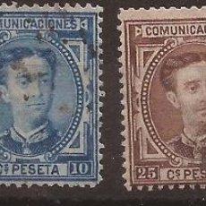 Sellos: 1876 ALFONSO XII EDIFIL 174(º), 1175(º), 177(º) Y 179(º) VC 22,50€. Lote 186323485