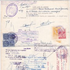 Sellos: F6-82- INTERESANTE DOCUMENTO CON FISCALES DERECHOS CONSULARES / MINISTERIO AA. EXTERIORES . Lote 187153393