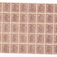 Sellos: GPC-10- FISCALES ESPECIAL MÓVIL BLOQUE DE 50 ** SIN FIJASELLOS. LUJO. Lote 187170495