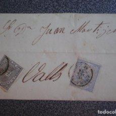 Sellos: ENVUELTA CARTA AÑO 1874 DOBLE EDIFIL 145 Y 141 FECHADOR AMBULANTE TARRAGONA (RARO) A VALLS. Lote 188822301