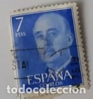 SELLO DE FRANCO 7PTAS (Sellos - España - Otros Clásicos de 1.850 a 1.885 - Usados)
