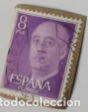 SELLO DE FRANCO 8PTAS (Sellos - España - Otros Clásicos de 1.850 a 1.885 - Usados)