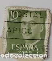 SELLO DE FRANCO 10PTAS (Sellos - España - Otros Clásicos de 1.850 a 1.885 - Usados)