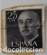 SELLO DE FRANCO 25CTS (Sellos - España - Otros Clásicos de 1.850 a 1.885 - Usados)