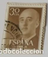 SELLO DE FRANCO 30CTS (Sellos - España - Otros Clásicos de 1.850 a 1.885 - Usados)