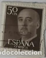 SELLO DE FRANCO 50CTS (Sellos - España - Otros Clásicos de 1.850 a 1.885 - Usados)