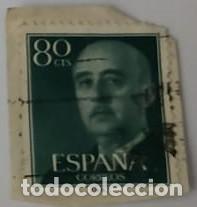 SELLO DE FRANCO 80CTS (Sellos - España - Otros Clásicos de 1.850 a 1.885 - Usados)