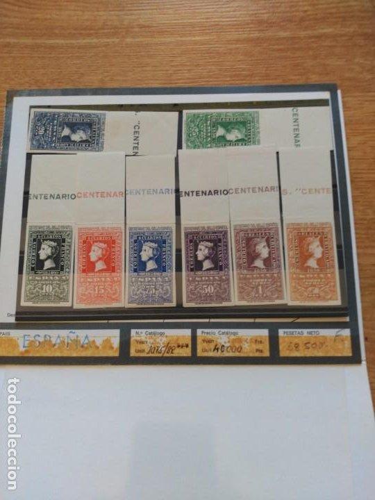Sellos: Centenario del sello español. Serie completa - Foto 2 - 194694500