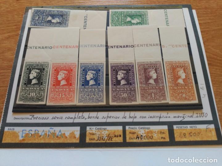 Sellos: Centenario del sello español. Serie completa - Foto 3 - 194694500