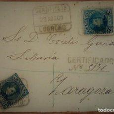 Sellos: ALFONSO XIII CADETE LOGROÑO LA RIOJA 1907 ESPAÑA. Lote 195347180