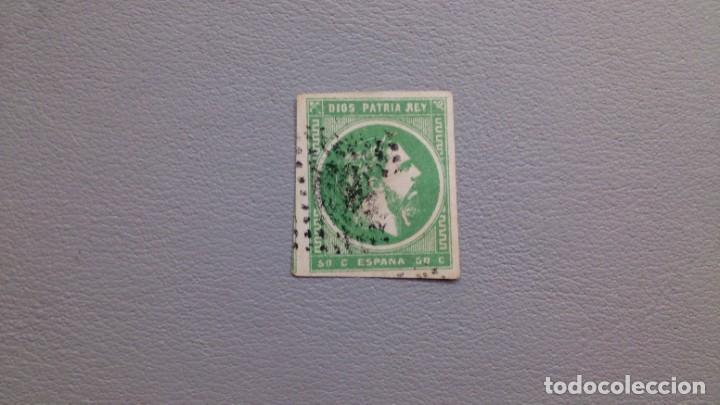 ESPAÑA - 1875 - CARLOS VII - EDIFIL 160 - LUJO - GRANDES MARGENES - VALOR CATALOGO 145€. (Sellos - España - Otros Clásicos de 1.850 a 1.885 - Usados)