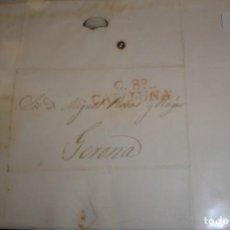 Sellos: CARTA A CATALUÑA GERONA 1835 - PORTAL DEL COL·LECCIONISTA . Lote 196482025
