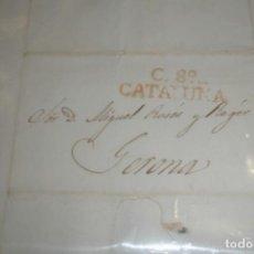 Sellos: CARTA A CATALUÑA GERONA 1835 - PORTAL DEL COL·LECCIONISTA . Lote 196482303