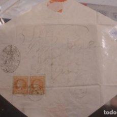 Sellos: CARTA A CATALUÑA BESALÚ 1860 - PORTAL DEL COL·LECCIONISTA . Lote 196482538