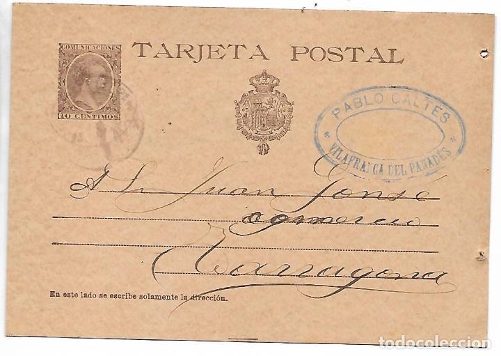 PREFILATELIA AÑO 1899 (Sellos - España - Otros Clásicos de 1.850 a 1.885 - Cartas)