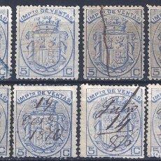 Sellos: FISCALES POSTALES. IMPUESTO DE VENTAS. 1876.. Lote 197118662