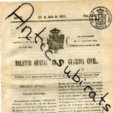 Sellos: TIMBRE PARA PERIODICOS ENTERO SELLOS CATALOGO EDIFIL NUMERO 1 LLAMADO BOLETIN GUARDIA CIVIL AÑ 1861. Lote 199285736