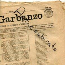 Sellos: TIMBRE PARA PERIODICOS ENTERO SELLOS CATALOGO EDIFIL NUMERO 17 LLAMADO EL GARBANZO AÑO 1867 ENTERO. Lote 199287598